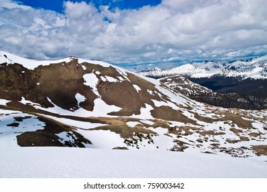 Scenic views at Gore range overlook in Rocky mountains national park colorado USA in early summer