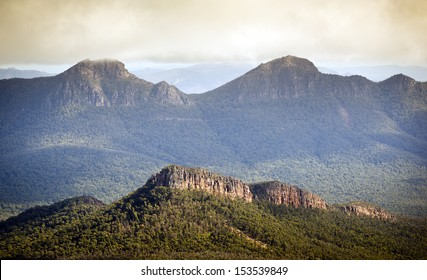 Scenic views of the Grampians National Park in Western Victoria, Australia