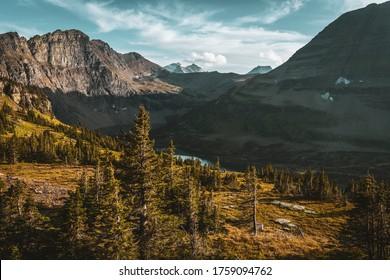 scenic views of hidden lake overlook. Glacier national park