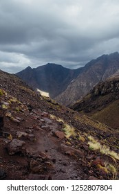Scenic views of the landscapes of Toubkal National Park, High Atlas, Morocco