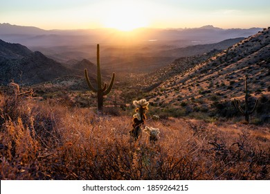 Scenic Views of the Mcdowell Moutains in Scottsdale, Arizona