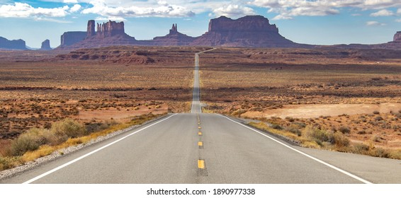 Scenic views of Monument Valley.