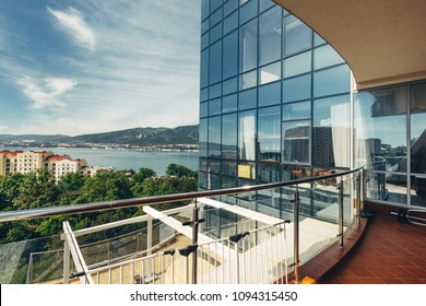 Scenic views of the mountains and the sea from the balcony or terrace