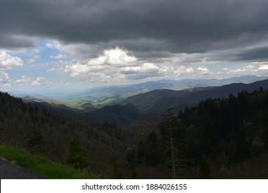 Scenic views of Thunderstruck Ridge in the Blue Ridge Mountains.
