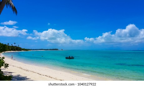 Scenic views of the tiny Cocos (Keeling) Islands a remote territory of Australia in the Indian Ocean with 2 coral atolls comprising 27 tiny islands with white-sand beaches, palm trees and lagoons.