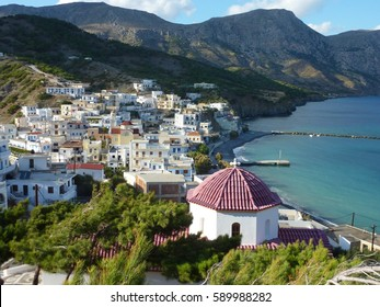 The scenic Village Diafani in the Northeast of the Aegean Island of Karpathos, Greece