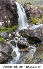 Scenic waterfall at Connor Pass, Dingle Peninsula, County Kerry, Ireland
