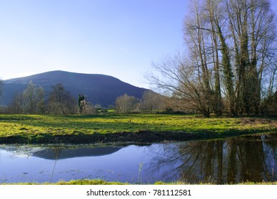 A scenic winter shot of the Blorenge mountain near Abergavenny in the Black Mountains of Abergavenny