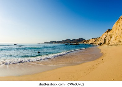 Scenics from the beaches of the sea of cortez, where the desert meets the sea, Baja California sur Mexico.