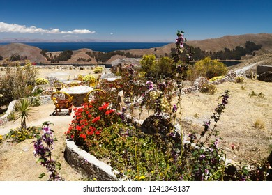 Scenivc view on Isla Del Sol (Island Of The Sun), Lake Titicaca, Bolivia