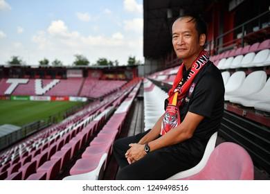 SCG Muangthong United new signing Head Coach Pairoj Borwonwatanadilok during his press conference new coach and player at SCG Stadium on November 22, 2018 in Nonthaburi, Thailand.