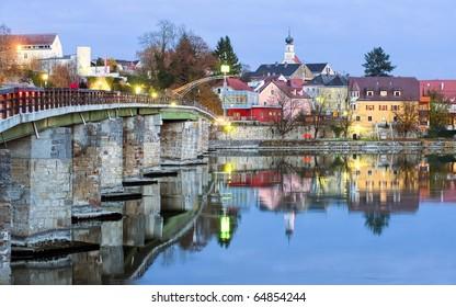 Schaerding on Inn - picturesque frontier town on German-Austrian border