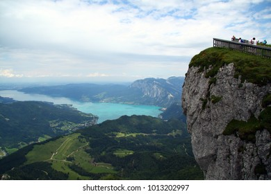 Schafberg rock and Attersee