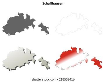 Schaffhausen Map Stock Images RoyaltyFree Images Vectors