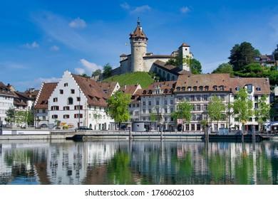 Schaffhausen, Switzerland, 05.26.2020, The Munot is the castle over the city of Schaffhausen