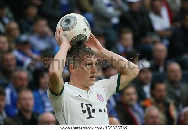 Schalke Germany Sep 21 Bastian Schweinsteiger Stock Photo