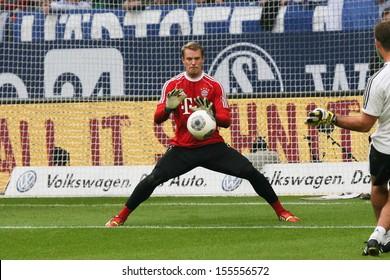 SCHALKE, GERMANY - SEP 21: Manuel Neuer (FC Bayern) during a Bundesliga match between FC Schalke 04 & FC Bayern Munich, final score 0-4, on September 21, 2013, in Schalke, Germany.