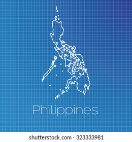 A Schematic outline of the country of Philippines