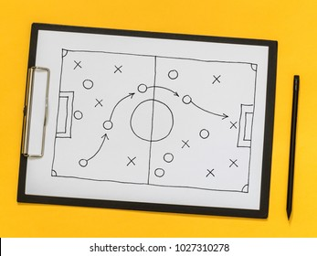 The scheme of the game. Strategy. Tactics. On the chalkboard