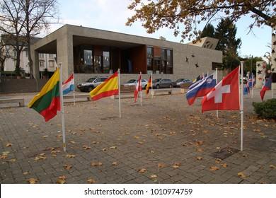 Schengen Village In Luxembourg, Where Schengen Agreement Was Signing.  Schengen Treaty.