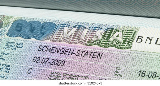 Schengen Visa In Passport.
