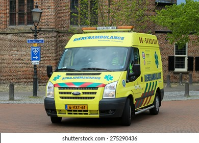 SCHERPENZEEL, THE NETHERLANDS - May 5, 2015 - Dutch animal ambulance for the woudenberg area to help pets in need of first aid Photo taken on May 05, 2015