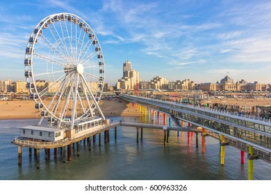 Scheveningen, The Hague, Netherlands, 12 March 2017 - Sunny Day At Scheveningen