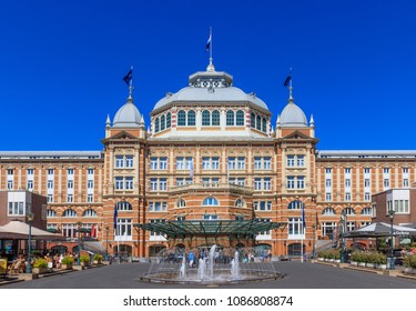 Scheveningen, Netherlands - May 07, 2018: View of The Grand Hotel Amrath Kurhaus of Scheveningen Hotel