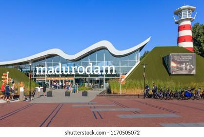 Scheveningen, Netherlands - September 02, 2018: Madurodam Miniature Park In Scheveningen