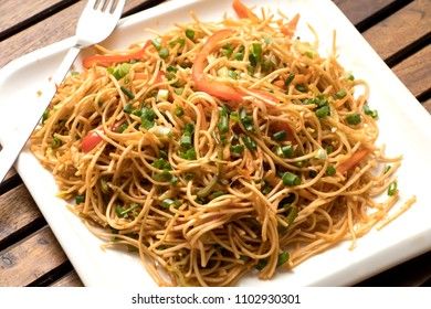 Schezwan veg noodles is a spicy and tasty stir fried Hakka noodles with schezwan sauce and veggies.