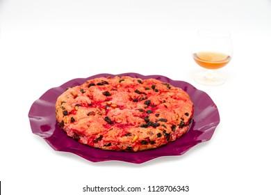 Schiaccia briaca (drunk cake) from Elba, Italy
