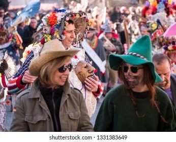 Schignano (Italy) - 03/05/2019 - Traditional carnival of Schignano, in the province of Como.