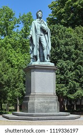 Schiller monument at the Taunusanlage park in Frankfurt am Main, Germany. The monument was unveiled in 1864.