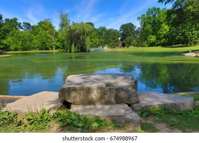 Schiller Park in German Village is a 23 acre municipal park just south of downtown columbus, Ohio
