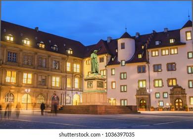 Schillerplatz at Night - Stuttgart, Germany