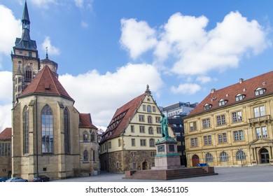Schillers square, Stuttgart, Germany