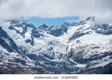 Schilthorn mountain landscape and scenic view for panoramic natural in Switzerland with Aerial view