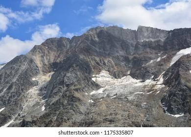 The Schinhorn above the Lotschtal Valley in the Bernese Alps, Switzerland