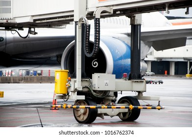 Schiphol airport. maintenance of aircraft before and after flights. Airplanes belonging to different travel companies. Airport staff. Amsterdam. Netherlands. December 2017.
