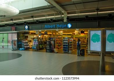 Schiphol, Netherlands, 27-06-2018: A albert heijn to go in schiphol airport
