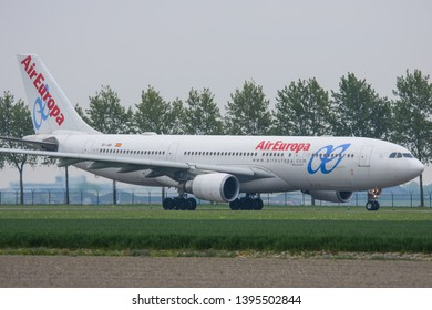 Schiphol, N-H/Netherlands – May 1-5-19- Air Europa Airbus A330-200 taxiing to the runway at Amsterdam Schiphol Airport for a flight to Madrid, Spain