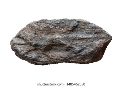 Schist rock isolated on white background included clipping path.