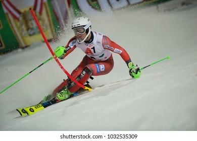 Schladming, Austria, 23.1.2018, Sport,  AUDI FIS SKI WORLD CUP THE NIGHTRACE. FOSS-SOLEVAAG Sebastian (NOR).