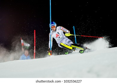 Schladming, Austria, 23.1.2018, Sport,  AUDI FIS SKI WORLD CUP THE NIGHTRACE. DOPFER Fritz (GER).
