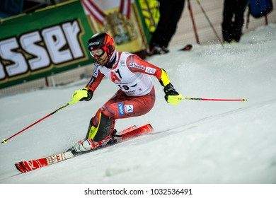 Schladming, Austria, 23.1.2018, Sport,  AUDI FIS SKI WORLD CUP THE NIGHTRACE. NESTVOLD-HAUGEN Leif Kristian (NOR).