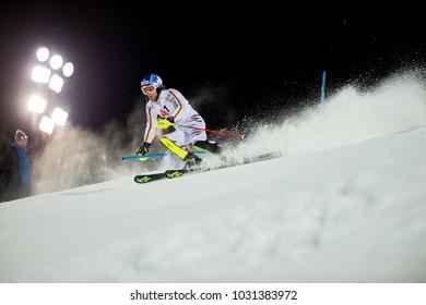 Schladming, Austria, 23.1.2018, Sport, Fussball, AUDI FIS SKI WORLD CUP THE NIGHTRACE.  DOPFER Fritz (GER).