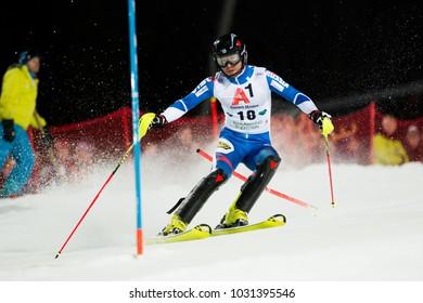 Schladming, Austria, 23.1.2018, Sport, Fussball, AUDI FIS SKI WORLD CUP THE NIGHTRACE.  KHOROSHILOV Alexander (RUS).
