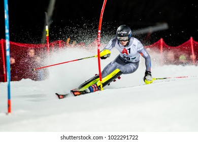 Schladming, Austria, 23.1.2018, Sport, wintersport, AUDI FIS SKI WORLD CUP THE NIGHTRACE. image shows NOEL Clement (FRA).