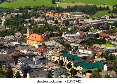 SCHLADMING, AUSTRIA - AUGUST 15: Roman Catholic Church on August 15, 2017 in Schladming, Austria.