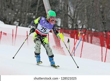 SCHLADMING, AUSTRIA - FEBRUARY 16: CARVALLO Nicolas (CHI) competing in FIS Alpine World Ski Championship Men's Slalom on February 16, 2013 in Schladming, Austria.